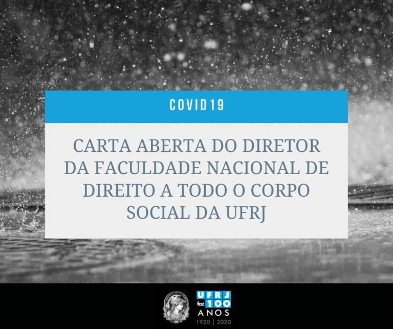 Carta Aberta ao Corpo Social UFRJ